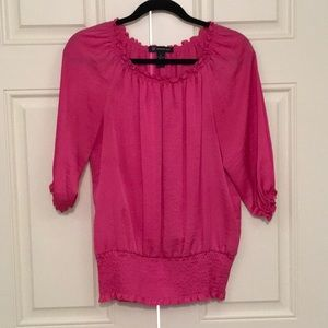 INC Pink 3/4 sleeve blouse